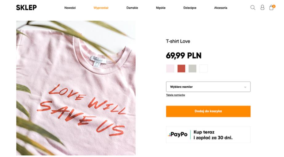 Jak komunikować o płatnościach odroczonych PayPo na karcie produktu w sklepie online?